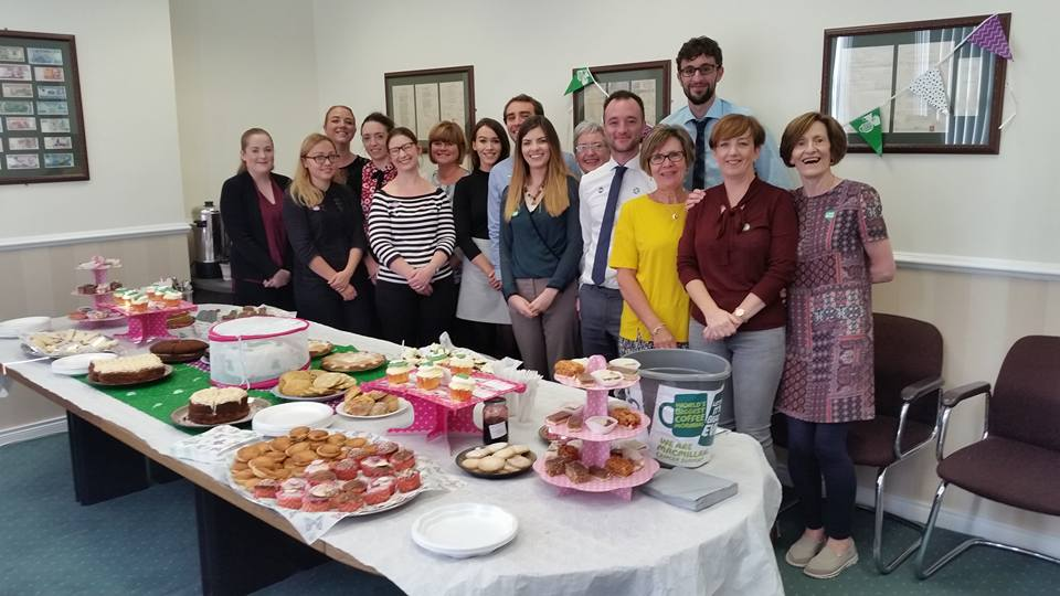 Macmillan Coffee Morning - Lurgan accounting team